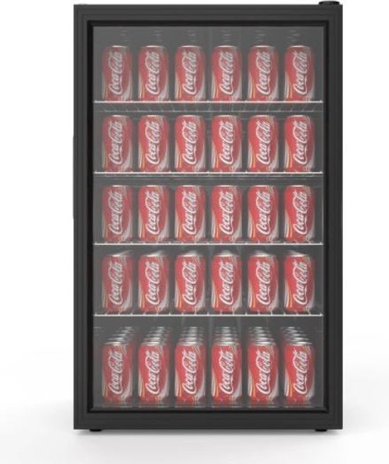Koelkast: Horeca Glasdeur Mini Koelkast - 115 liter - Tafelmodel - Zwart, van het merk ChefCool