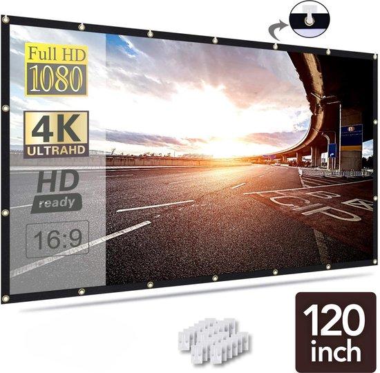 Membeli 120 inch Beamer Scherm Projectiescherm - Projector Scherm Uitrekbaar...