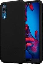 Huawei P20 hoesje zwart siliconen case hoes cover hoesjes