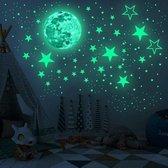 Glow in the dark sterren| 436 stuks | sterren & maan stickers | Glow in the dark stars and moon | Kinderkamer | Lichtgevend| Sticker | Kinderen | Muurstickers | Sterren | Nacht | Sterrenhemel | Decoratie | Sinterklaas - Kerst