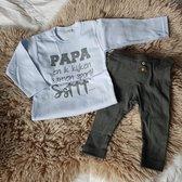 MM Baby cadeau geboorte  jongen set  papa kijken sport voetbal club met tekst aanstaande zwanger kledingset pasgeboren unisex Bodysuit |  babykleding Huispakje | Kraamkado | Gift Set babyset kraamcadeau pakje babygeschenk babygeschenkset kraampakket