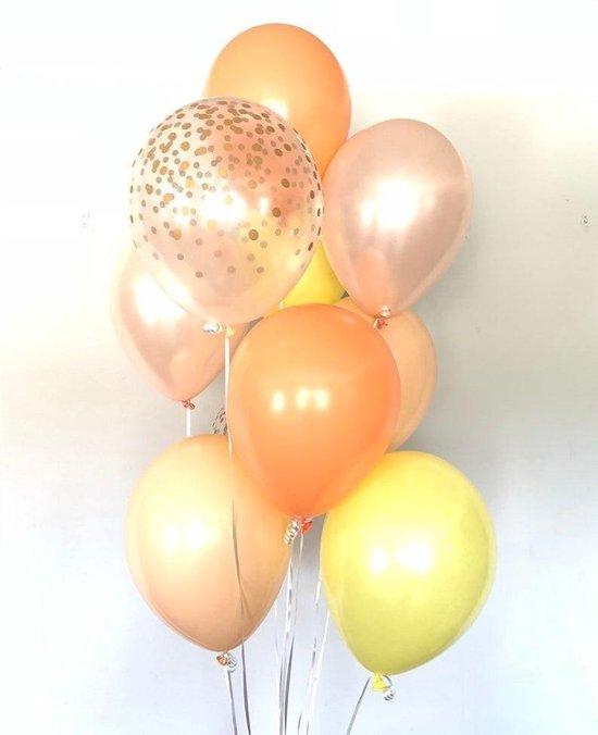 Huwelijk / Bruiloft - Geboorte - Verjaardag ballonnen | Oranje - Zalm / Beige - Geel - Lila / Mauve - Transparant - Polkadot Dots | Baby Shower - Kraamfeest - Fotoshoot - Wedding - Birthday - Party - Feest - Huwelijk | Decoratie | DH collection