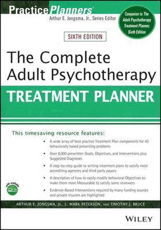 Boek cover The Complete Adult Psychotherapy Treatment Planner van Arthur E. Jongsma, Jr. (Paperback)