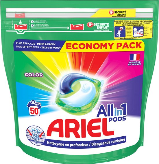 Ariel All-in-1 Pods Colour - 50 Wasbeurten - Wasmiddel Pods