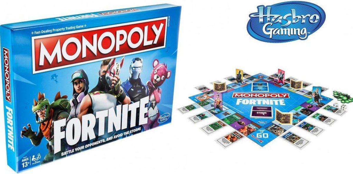 Monopoly spel Fortnite editie bordspel Hasbro Engelstalig familiespel
