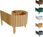 Floranica® Rollboarder als tuinafscheiding 203x20 cm gemaakt van hout als beddingrand, bedrand, gazonrand of palissade - in natuurlijke kleur - weersbestendig geïmpregneerd