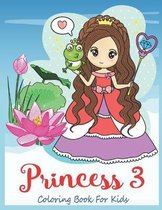 Princess 3 Coloring Book For Kids