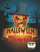 Halloween Activity Book for Kids 4-8