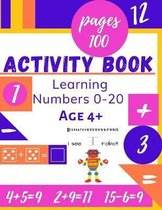 Learning Numbers 0-20 Age 4+ Activity book