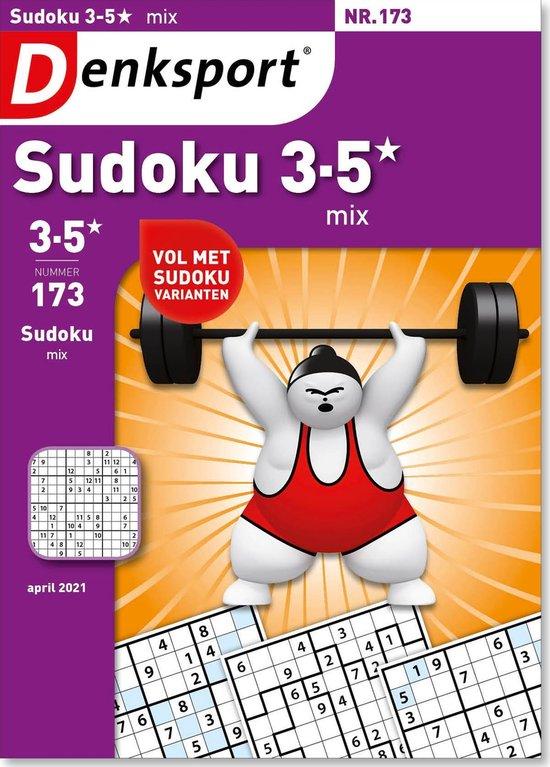 Afbeelding van Denksport puzzelboek Sudoku 3-5* mix editie 173