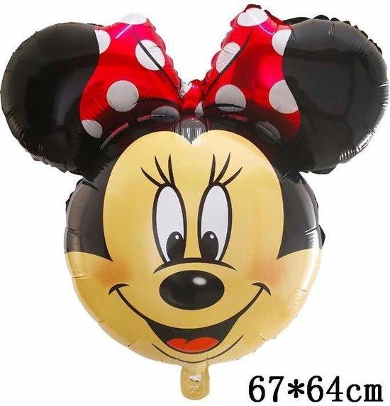 Mickey Mouse Ballon Disney Met Rietje ,Helium Ballonnen ,Verjaardag Decoratie .67x64cm & Straw