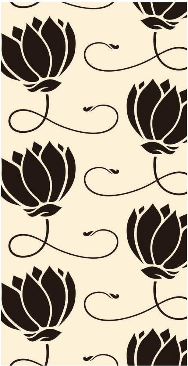 Notitieboek - ToDo - Lijstjes - Lotus Zwart Wit - Traveler - Werk - Studie - Dagboek