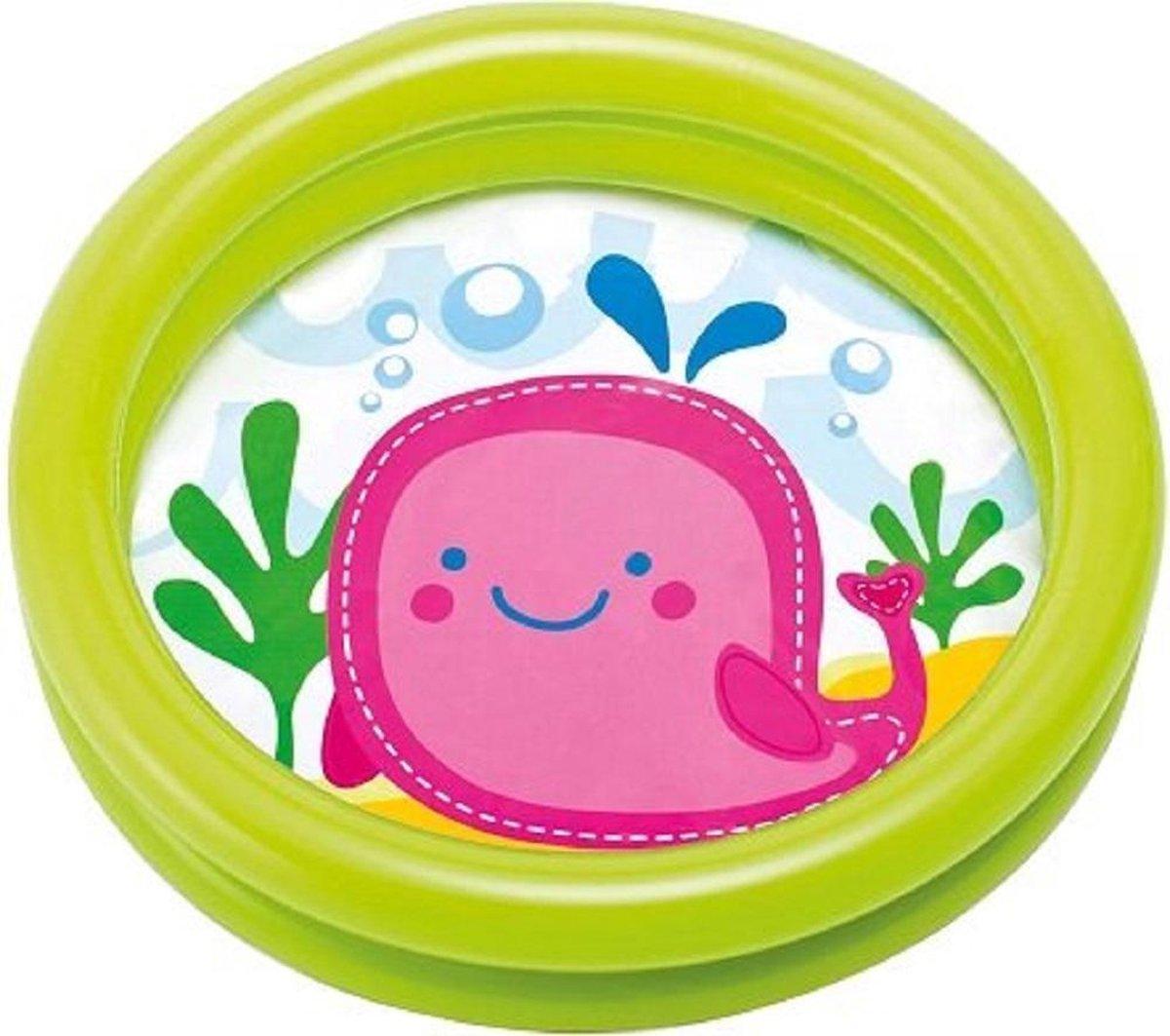 Baby zwembad, opblaasbad, opblaasbaar zwembadje groen (hoogte 15cm)