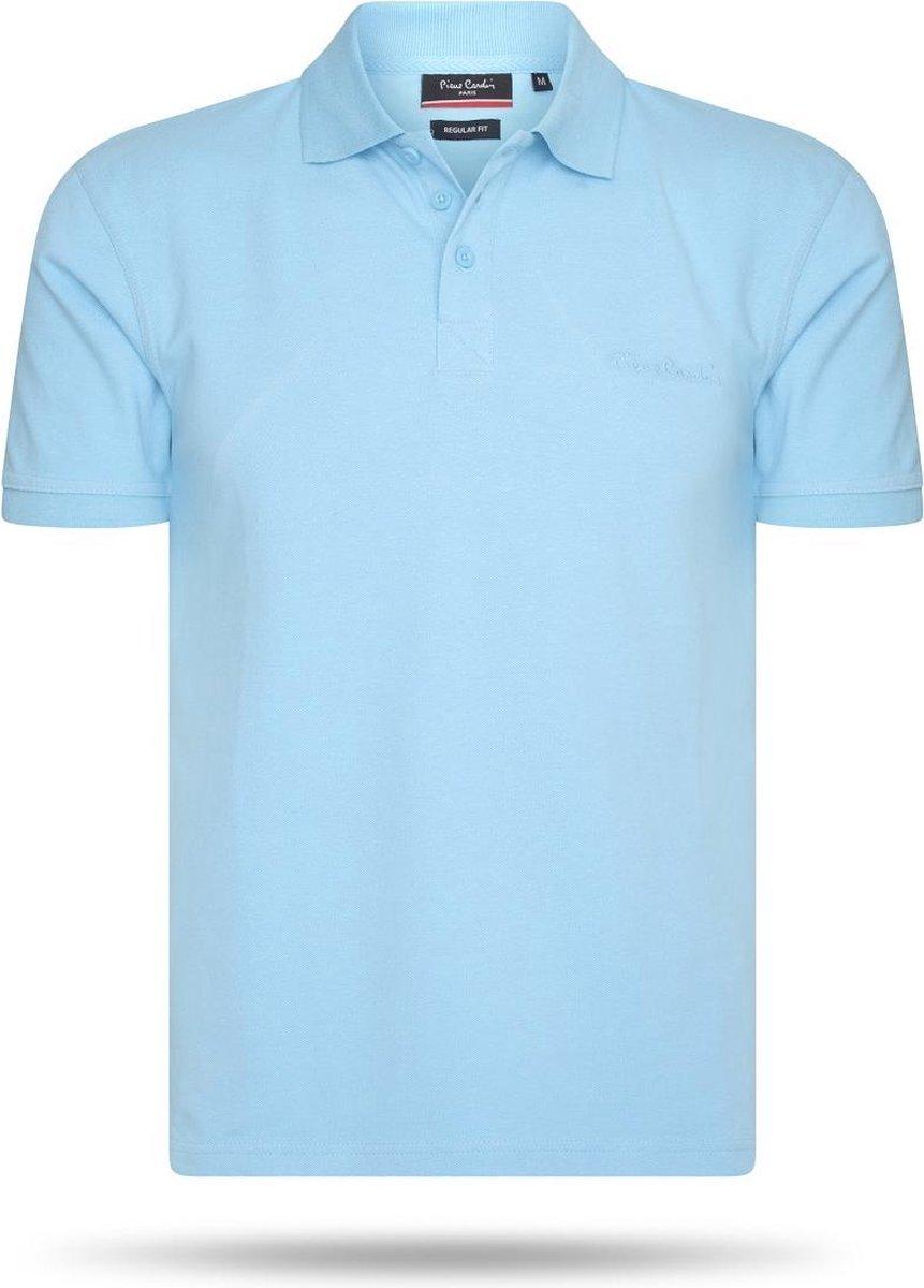Pierre Cardin - Heren Polo SS Basic Polo - Blauw - Maat L