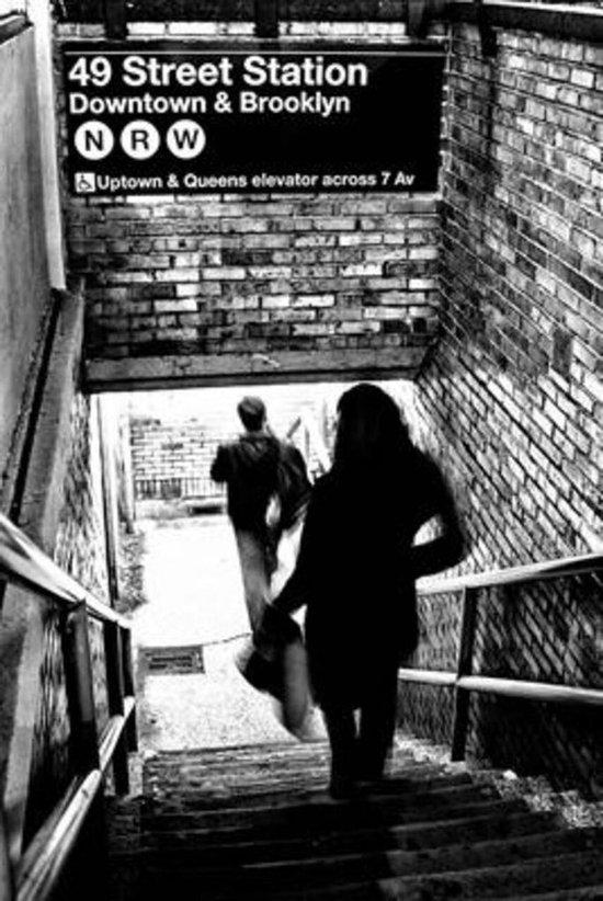 New York poster Brooklyn- trein-metro-fotografie 61 x91.5 cm zwart-wit