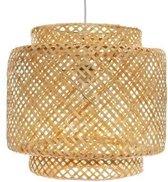 Made4Home® - Hanglamp | 1 stuk | Gevlochten bamboe | Handgeweven | Verlichting | Rotan | Bohemian style | | Voor woonkamer, eetkamer & slaapkamer | Ø40 cm