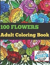 100 Flowers Adult Coloring Book.