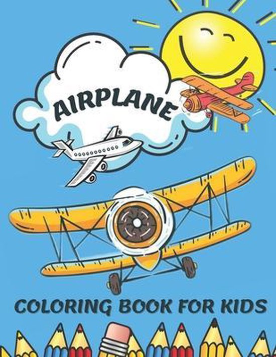 Airplane Coloring Book for Kids