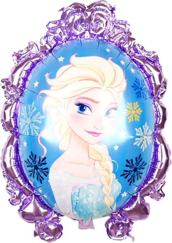 Frozen Ballon - 71 x 55 cm - Inclusief Opblaasrietje - Ballonnen - Ballonnen Verjaardag - Helium Ballonnen - Folieballon - Disney Ballon - Frozen 2 - Disney Princess - Elsa Ballon - Paars