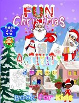 Fun Christmas Activity Jumbo Book for Kids Ages 2-5,4-8