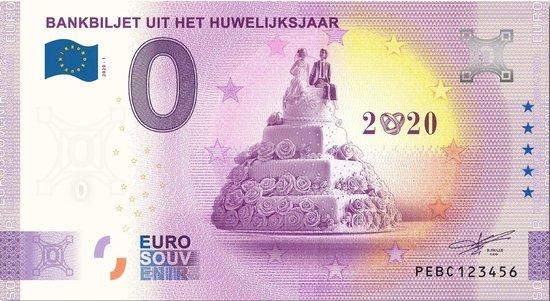 Afbeelding van het spel 0 Euro Biljet 2021 - Bankbiljet uit het huwelijksjaar