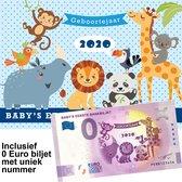 0 Euro biljet Nederland 2020 - Baby's eerste bankbiljet in cadeauverpakking jongen