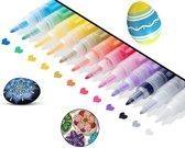 Afbeelding van Acryl stiften 12 kleuren   0.7 mm   Acrylverf stiften   Acryl marker   Acryl stiften volwassenen   Acrylstiften voor stenen schilderen   Happy Stones stiften