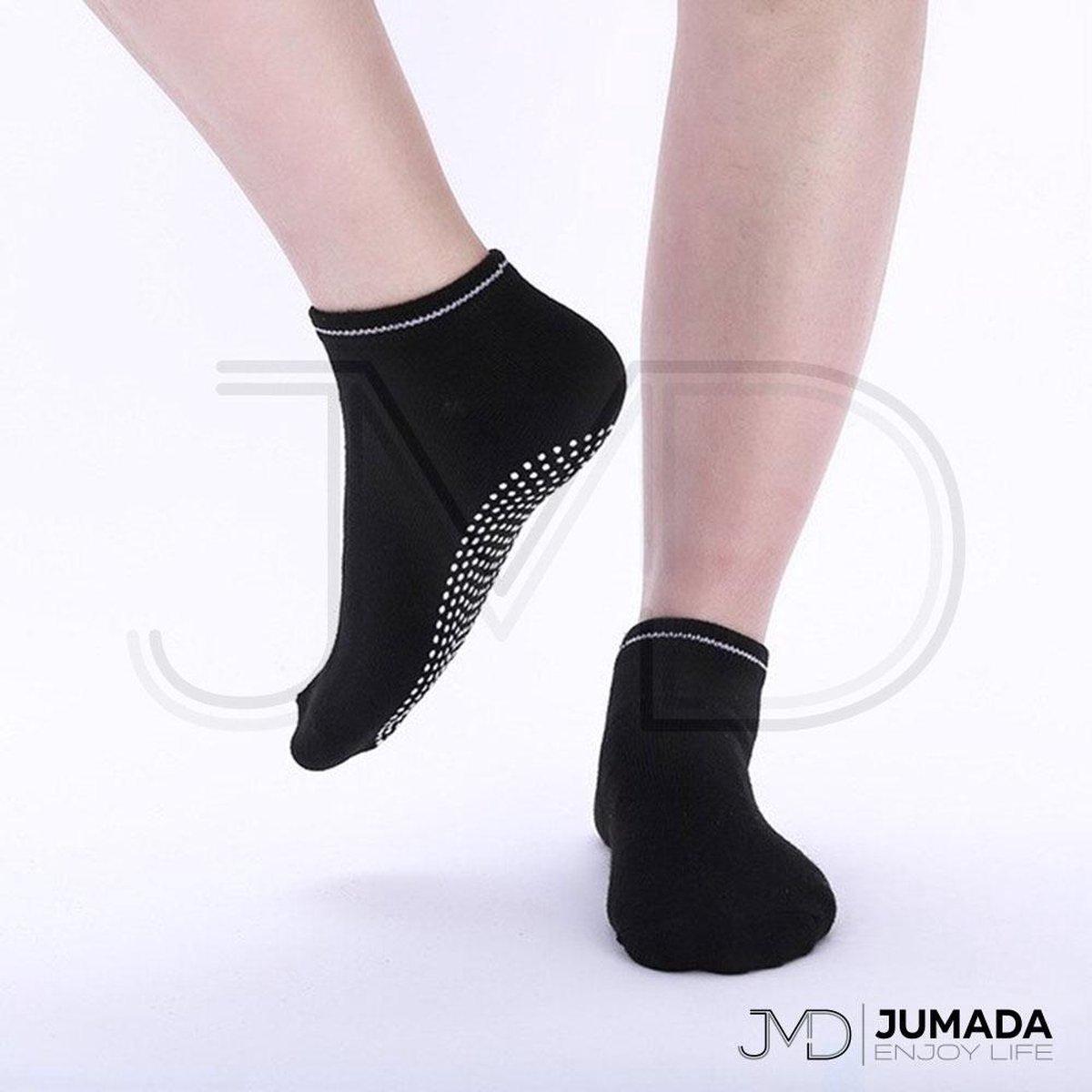 Anti Slip Yoga Sokken - Yoga - Halfhoog - Unisex - Zwart