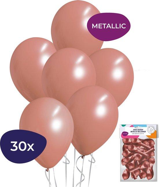 Rose Goud Ballonnen – Metallic Ballonnen – Rose Goud Versiering – Sweet 16 Versiering – Helium Ballonnen – 30 stuks