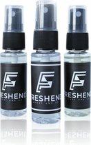Freshend - Combi Box Autoparfum - 3x 20 ml - Heerlijk Verfrissend - Premium Autoparfum - Handig opbergbare spray