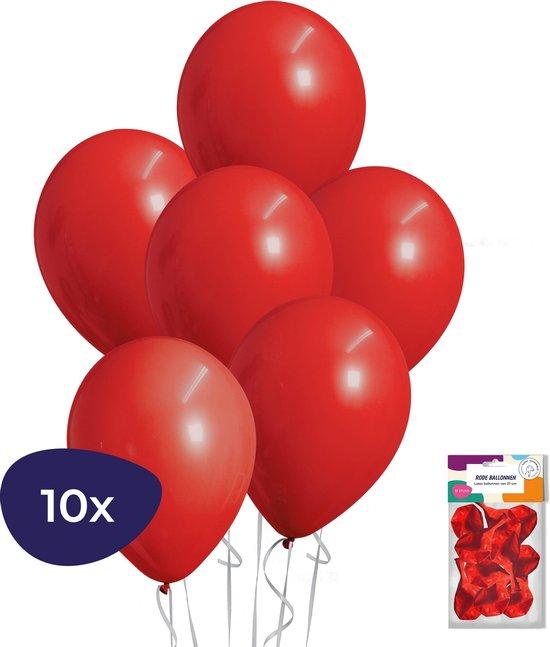 Rode Ballonnen - Helium Ballonnen - Verjaardag Versiering - Valentijn Decoratie - 10 stuks