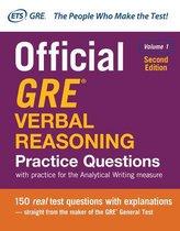 Boek cover Official GRE Verbal Reasoning Practice Questions, Second Edition, Volume 1 van Educational Testing Service
