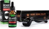 LB Products™ Baardgroei Olie + Derma Baard Roller - 30 ml
