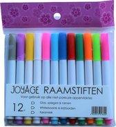 Raamstiften Kinderen - 12 stuks - Afwasbaar - Krijtstiften voor raam - Whiteboard stiften - Whiteboard Marker - Window marker - Krijtmarker - Glasstiften - Porselein stiften