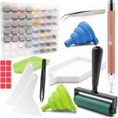 Diamond Painting Starterspakket van Diamond Hobbies   Complete Accessoires Set incl. Opbergdoos   Diamond Painting Pen   Lichtpen   Roller
