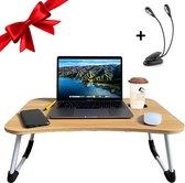 Luxergoods 2 IN 1 Bedtafel/Laptopstandaard - MDF hout - Nieuw Model - Cadeautip - Laptoptafel - Bank tafeltje - Laptop verhoger