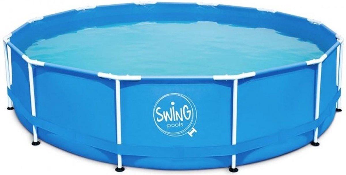 PoolPlaza opzet zwembad SWING metal frame rond 3,66 x 0,91