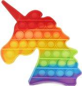Dielay - Pop It - Fidget Toy - 12,5 cm - Regenboog Eenhoorn