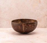 Coconut Bowls - Kokosnoot Kom - Medium size - Doorsnede Ø 13 cm - Inhoud 500 ml - Levenslange Garantie - Handgemaakt in Vietnam