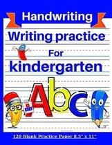 Writing practice for kindergarten