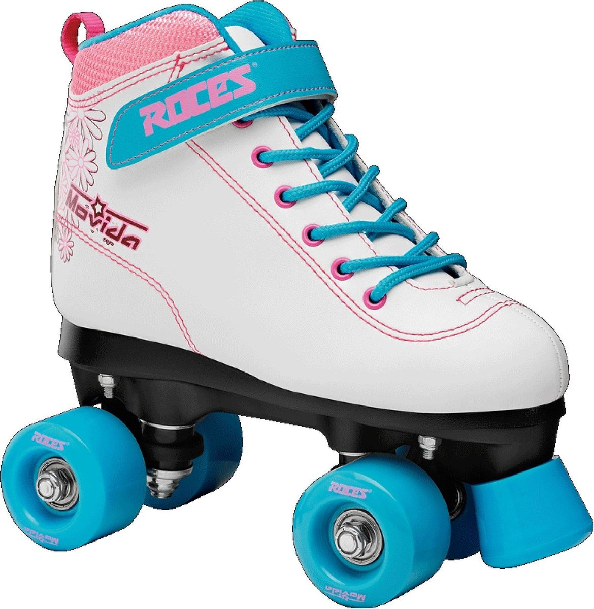 Roces Rolschaatsen - Maat 38Kinderen en volwassenen - wit - roze - blauw
