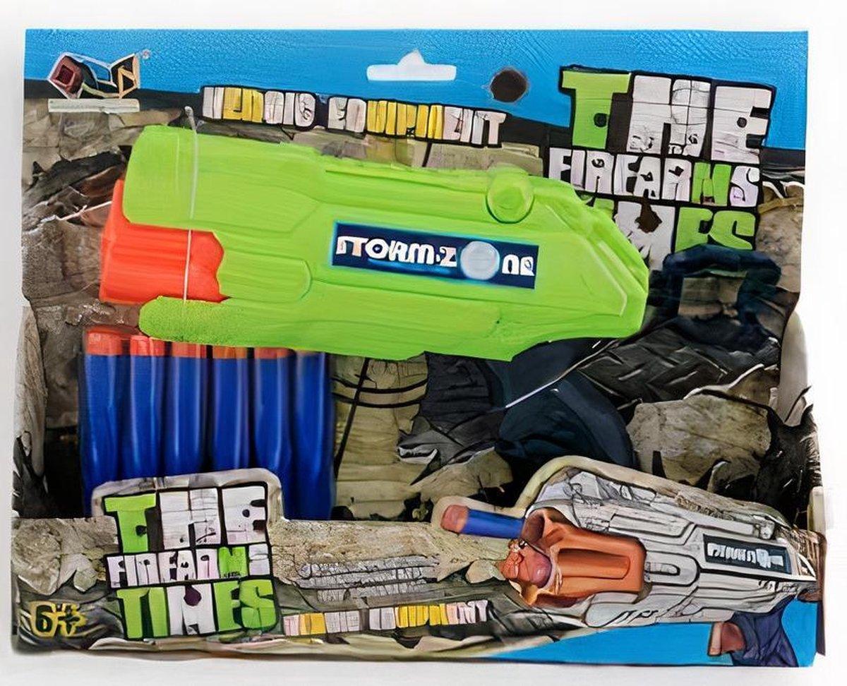 Jonotoys Schietpistool Soft Gun Junior Foam Groen