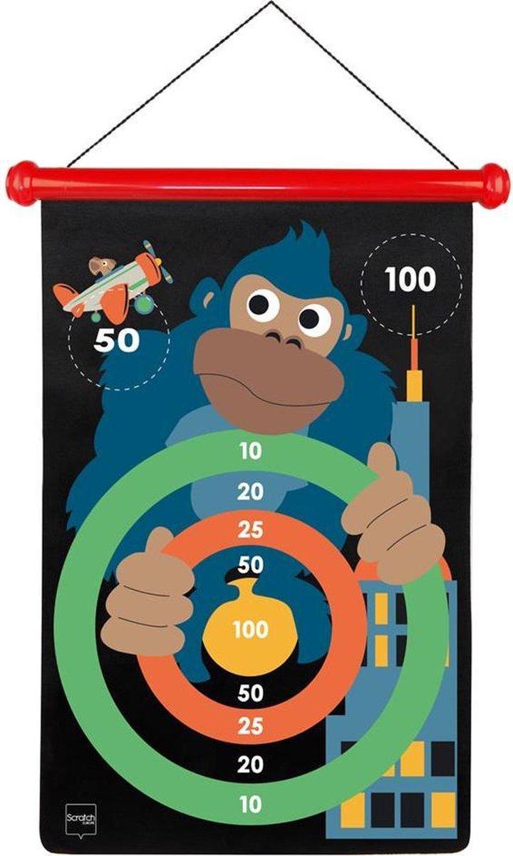 Scratch Active Play: MAGNETISCHE DARTS Monkeytown 36x55cm, 2-zijdig bedrukt, in tube, 5+