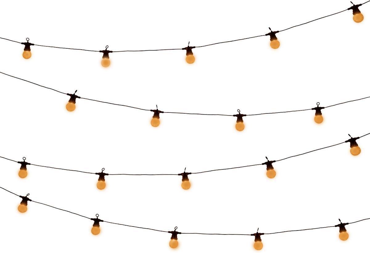 Tuin lichtsnoer met warm-wit lampjes van WDMT    13,55 meter lang   20 stuks LED lamp tuin verlichti