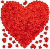Rozenblaadjes Rood 100 stuks- Valentijn - Romantische Versiering - Huwelijk - Verloving - Verlovingsfeest - Decoratie - Liefde - Huwelijksaanzoek - kunstBlad - Trouwen