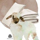 Little Hibboux Harmony Wool dekbed 100x150 wollen dekbed