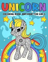 Unicorn Coloring Book Awesome For Girls