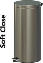 Pedaalemmer Soft Close Freedom Fresh RVS satijn 30 liter
