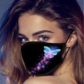 Mondkapje 1 vlinder blauw/paars inclusief 5 filters