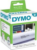 Dymo Etiket 99012 - labelwriter - 36x89mm - 520stuks - Wit